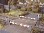 235 Ratio: TRACKSIDE ACCESSORIES  Level Crossing with barriers